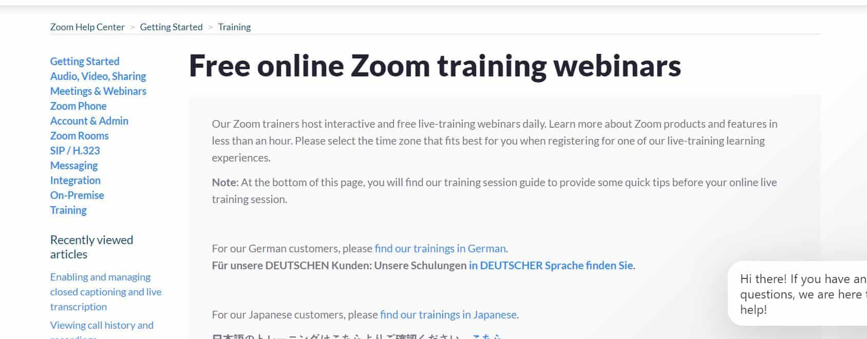 Zoom trains its users via webinars