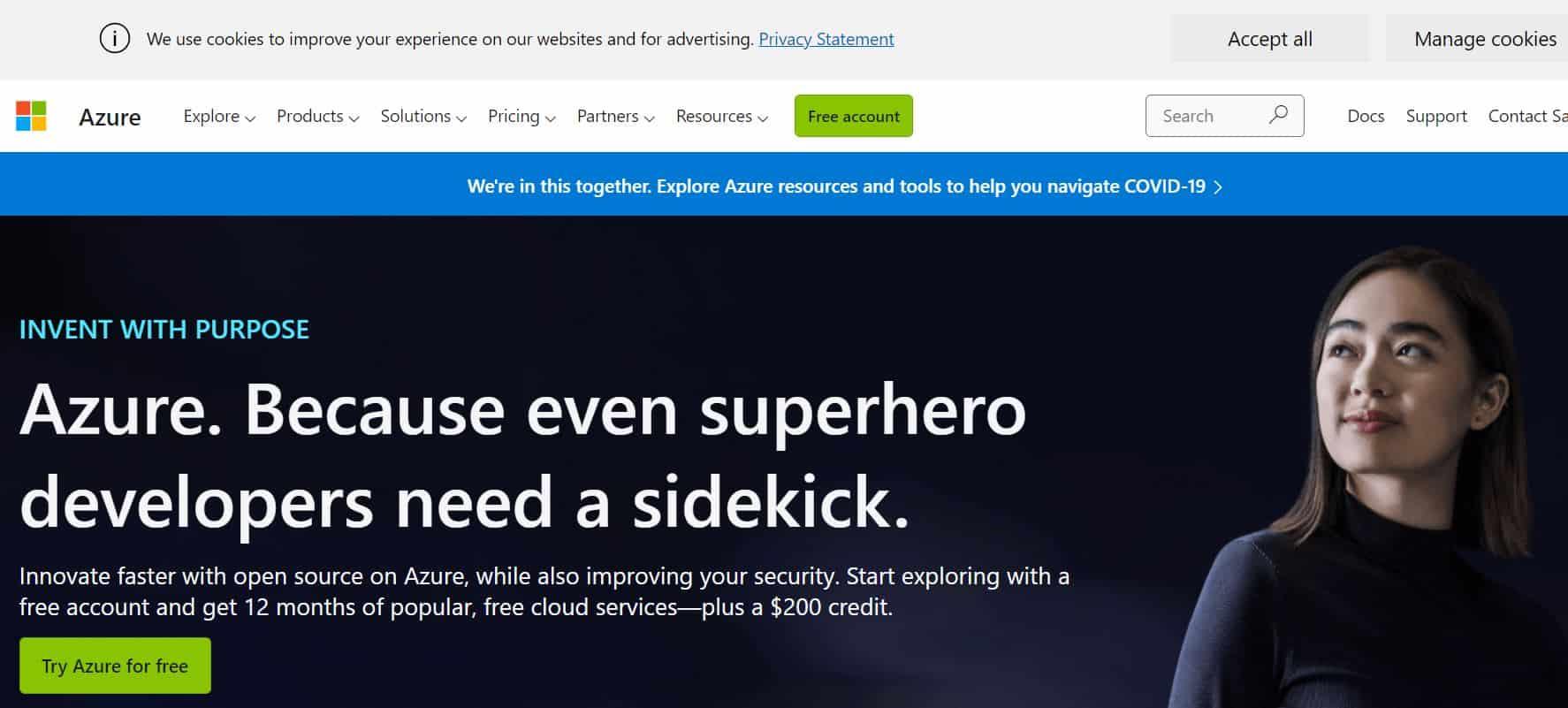 Microsoft Azure an Amazon AWS competitor and alternative.